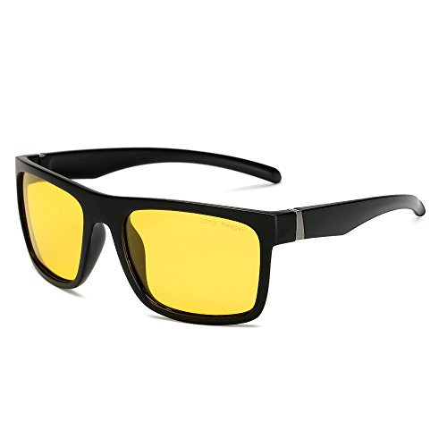 Night Vision Polarized Sports Sunglasses for Men Women for Driving Running Cycling By Long Keeper - Sunglasses Drive