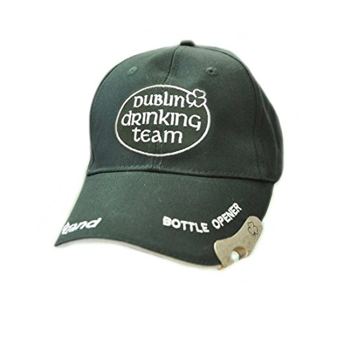 Bottle Opener Cap - Carrolls Irish Gifts Bottle Opener ST. Patrick's Day Hat With Embroidered Dublin Drinking Team, Green Colour