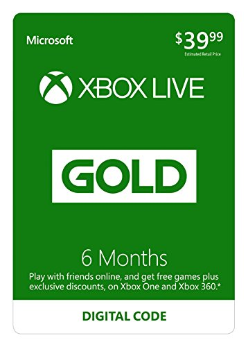 6 Month Xbox Live Gold Membership - [Digital Code] (Gold Membership Xbox Live)