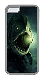 LJF phone case iphone 4/4s case, Cute Fish Monster iphone 4/4s Cover, iphone 4/4s Cases, Soft Clear iphone 4/4s Covers