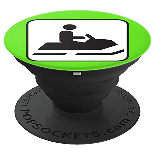 Snowmobile Snow Machine Sled Snowmobiling Green Monster - PopSockets Grip and Stand for Phones and Tablets