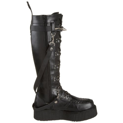 UK CREEPER 588 13 Blk Demonia V 46 EU PU aHqffR