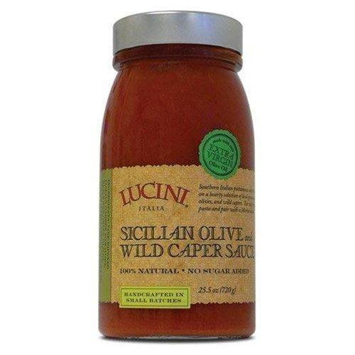 Lucini Italia Sicilian Olive Pasta Sauce, Pack of 18 (Lucini Marinara)