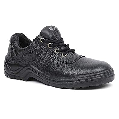 Liberty Cassino Genuine Leather Safety Shoes for Men Industrial Steel Toe Light Weight (Size :: 5 UK - 10 UK | Color :: Black)