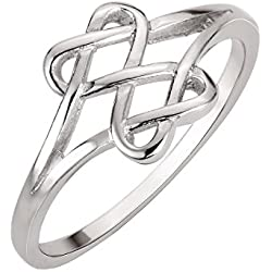 Sterling Silver Hearts Infinity Fusion Ring Size 6 Valentine's Day gift