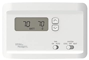 41if5wqxQ6L._SX355_ amazon com emerson np100 non programmable thermostat for single White Rodgers Thermostat Manuals at love-stories.co