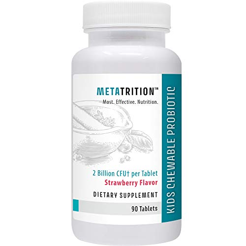 Metatrition Kids Chewable Probiotic Nutritional Supplements, 90 Count by Metatrition