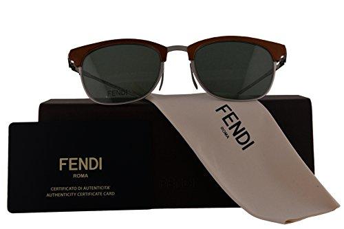 Fendi Authentic Sunglasses FF0228/S Brown w/Green Lens VGVQT FF 0228/S F0228/S FF0228S F0228S (50mm)