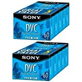 Sony DVC60PRL Mini DV Tape 60min Premium Data Cartridge 10 Packs