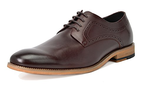 Bruno Marc Men's Waltz-2 Dark Brown Oxfords Dress Shoes Size 9.5 M - Shoes Italian Style Dress Brown