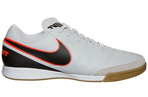 Nike Tiempo Genio II Leather IC Mens Football Boots 819215 Soccer Trainers (UK 6 US 6.5 EU 39, Pure Platinum Black 001)
