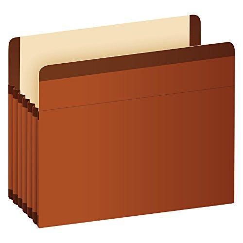 Esselte Standard Folder - Pendaflex Premium Reinforced File Pockets, Letter Size, Brown, 5.25 inch Expansion, 5 per box (85545)