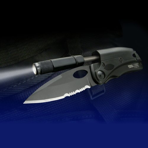 SOG-SLPro-Folding-Knife-ToolLogic-SLPB2-Tactical-Black-3-Blade-Magnesium-Firestarter-Whistle-LED-Flashlight