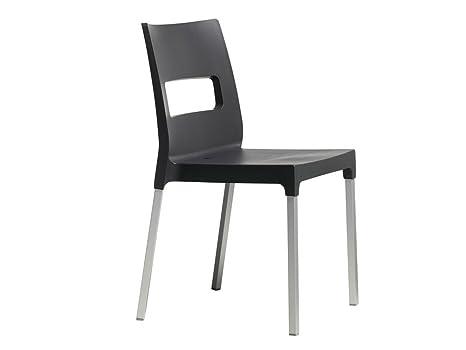 Scab design set di sedie maxi diva impilabile tecnopolimero