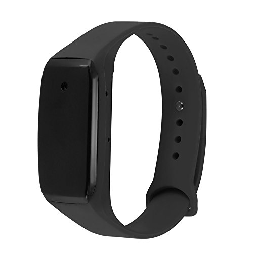 eoqo 1080P Full HD Buckle Bracelet Spy Camera - Support Video Recording with Adjustable Wristband + 8GB Micro
