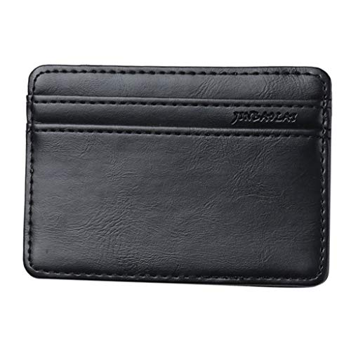 FitfulVan Clearance! Hot sale! Bags,Retro Men Leather Magic Money Clip Slim Mens Coin Wallet ID Credit Card Package