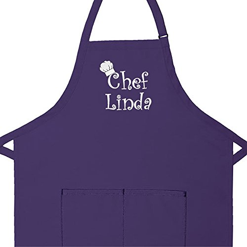 Personalized Kitchen Aprons (Personalized Apron Embroidered Chef Any Name Design Add a Name)