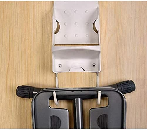 NHOUYAO Wall Mount Ironing Board Ironing Board Hanger for Wall Door Iron Organizer Bathroom Hotel Iron Storage Rack Hook,White