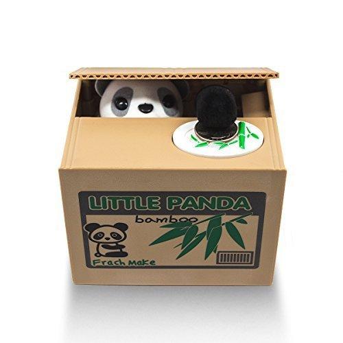 Matney® Stealing Coin Panda Box Piggy Bank Panda Bear English Speaking Great for Any Child