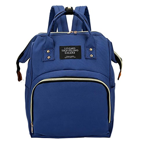 (ZOMUSAR Womens Casual Style Lightweight Canvas Large Capacity Backpack School Bag Travel Daypack Handbag Purse (Navy) )