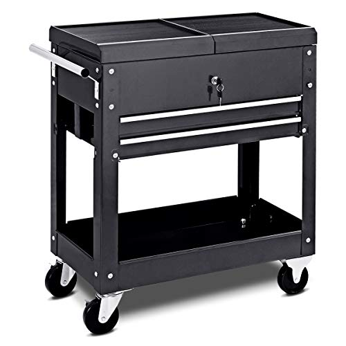 Cart Mechanics Slide Top Utility Storage Cabinet Organizer 2 Drawers ()