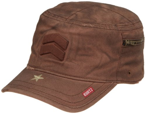 A.Kurtz Mens Fritz Oiled Baseball Cap, Brown, Large ()
