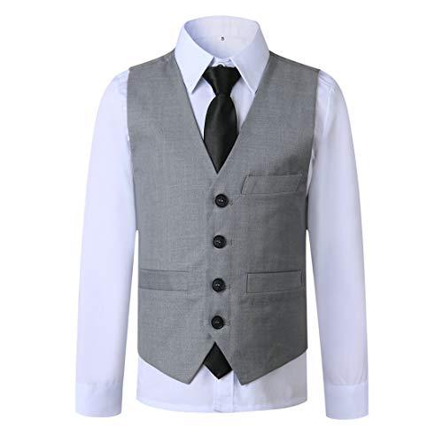kretenier 5 Piece Formal Boys Suits Set Slim Fit Dresswear Suit for Boys