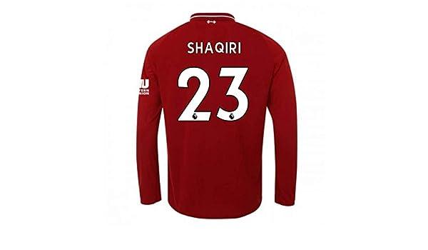 9b33957d283 ... uk amazon 2018 2019 liverpool home long sleeve football soccer t shirt  jersey xherdan shaqiri 23