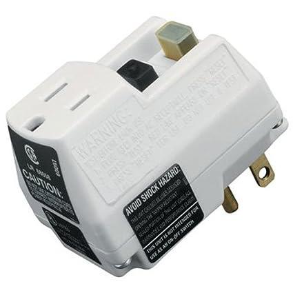 trc 90033 shockshield white portable gfci plug with surge protection rh amazon com Ground Fault Interrupter Outlet Ground Fault Circuit Interrupter Plug vs Regular Plug