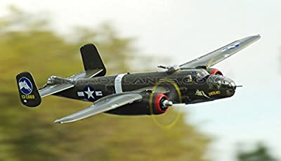Toy, Play, Fun, FMS RC Airplane 1400MM 1.4M B-25 B25 Mitchell Green 6CH PNP Radio Remote Control Big Scale Gaint Warbird Model Plane Aircraft, Children, Kids, Game