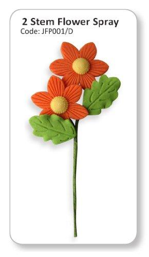 JEM Two Stem Flower Spray Orange