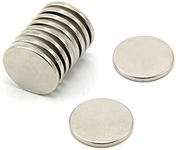 First4magneten F405N3510 20 mm diameter x 2 mm dikke N35 neodymium magneten23 kg trekken verpakking van 10 zilver 25 x 10 x 3 cm