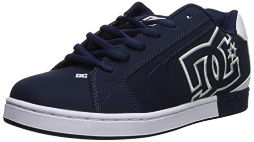 DC Men's Net Se-K Skate Shoe, Navy/White, 9 D M US