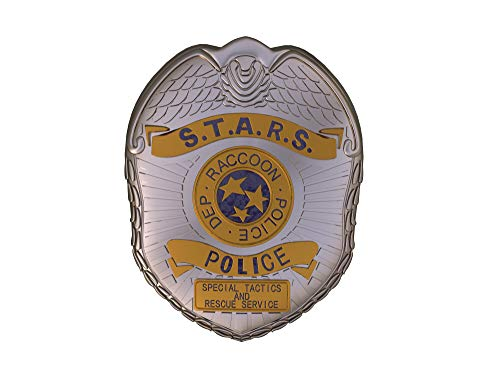 (X-COSTUME Resident Evil 2 Remake RPD Pin Badge STARS Badge Shield Prop Cosplay Accessory Fans Collection)