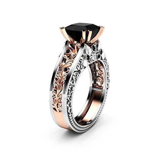 DDLBiz 2018 Clearance! Fashion Women Rose Gold Wedding Engagement Floral Ring