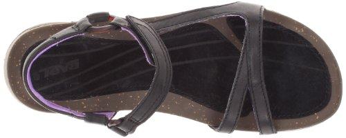 Teva Cabrillo Universal Leather - Sandalias de cuero mujer negro - Schwarz (black/purple 726)