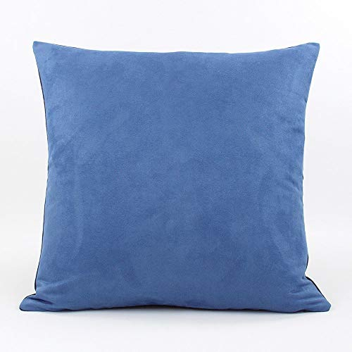 """Urban Suede and Denim Decorative Handmade Pillow Cover, 20x20"""", Blue, Chloe & Olive"""