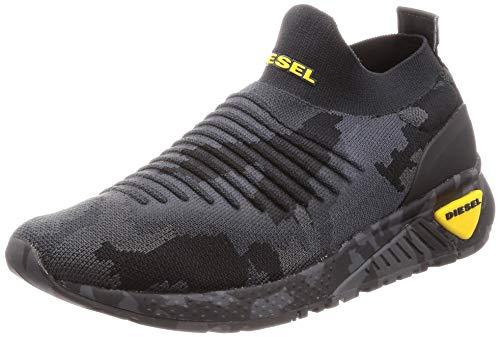 Diesel Men's SKB S-KB ATHL Sock Sneaker, Camouflage/Black, 9 M US
