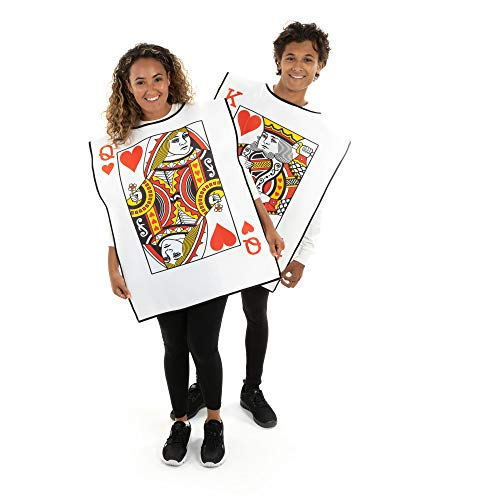King and Queen Playing Cards Costumes - One-Size Halloween Costumes for ()