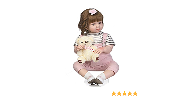 """Cloth doll Body for CUDDLE BABY 19/"""" TO 20/""""  Completed and weighted.."""