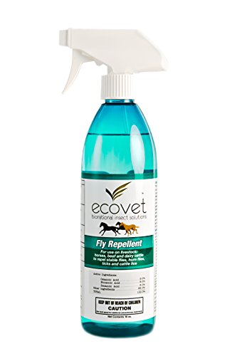 ECOVET Horse Fly Spray Repellent/Insecticide (Made with Food Grade Fatty acids), 18 oz