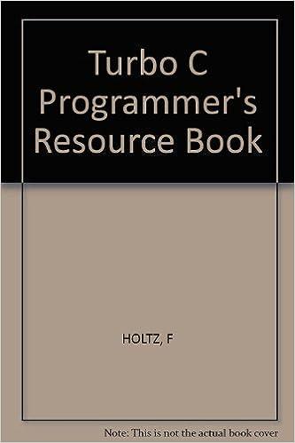 Amazon.com: Turbo C Programmers Resource Book (9780830630301): Frederick Holtz: Books