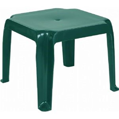 Compamia Sunray Resin Square Side Table Green