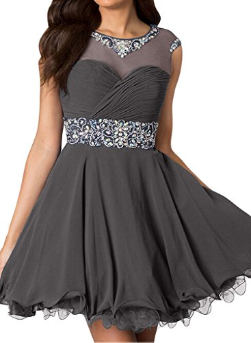 Gorgeous Bride Zaertlich Mini Chiffon Tuell ALinie Abendkleider ...