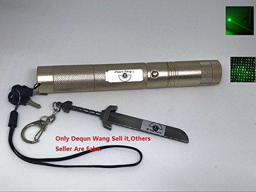 dequn Wang 532nm Verde haz de alta potencia puntero láser Lazer Proyector Pen linterna 301-type (con una batería 18650)