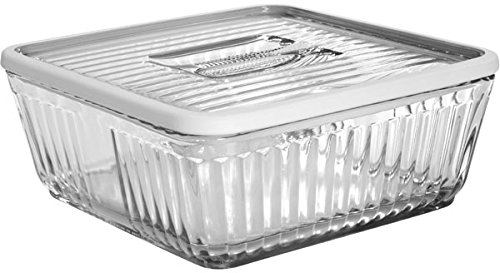 Anchor Hocking Bake 'N' Store Glass Dish and Lid with Silicone Gasket Sleeve, 12 Cup