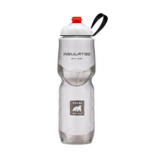 Polar Bottle ZipStream 24oz - Insulated Cycling & Sports Water Bottle with High Flow Cap - (24 oz White) ()