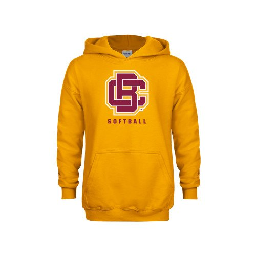 Bethune Cookman Youth Gold Fleece Hoodie Softball