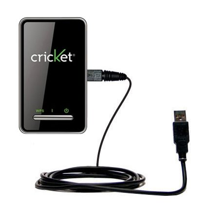Gomadic Hot Sync and Charge Straight USB Cable for The Cricket Crosswave WiFi Hotspot - Charge and Data Sync with The Same Cable. Built TipExchange Technology