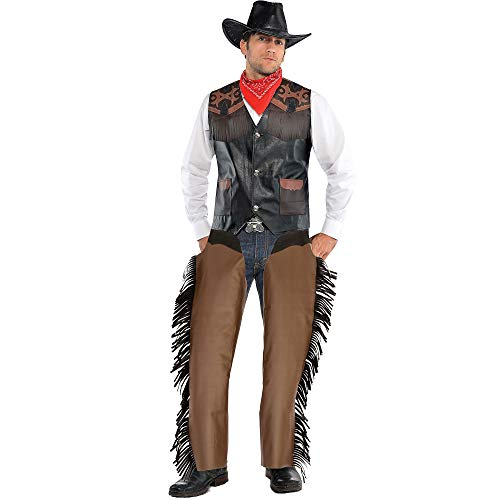 AMSCAN Cowboy Chaps Halloween Costume Accessories for Men, Standard ()